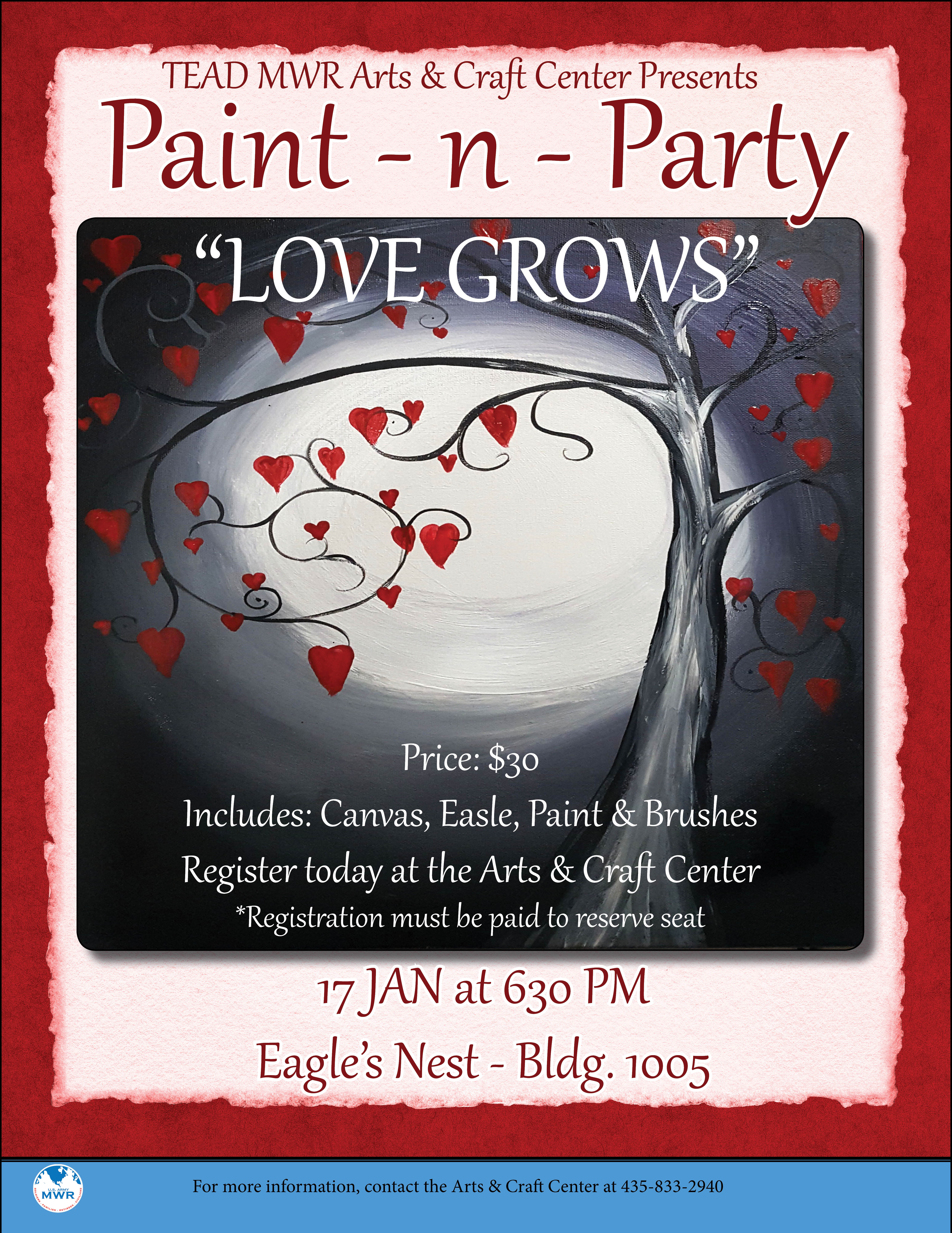 """""""Love Grows"""" Paint-n-Party"""