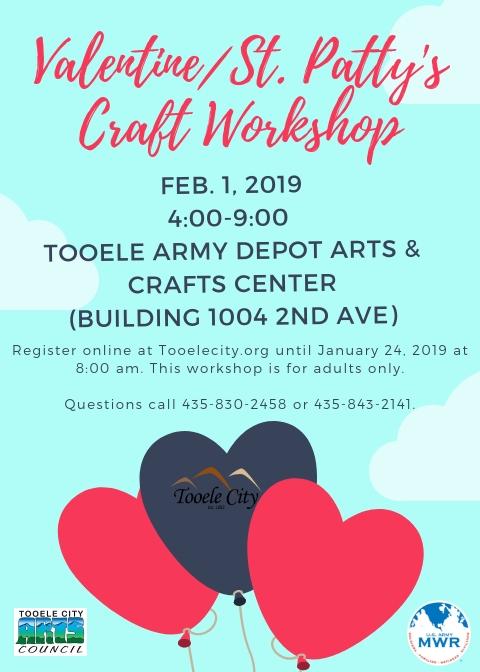 Valentine/St. Patty's Craft Workshop